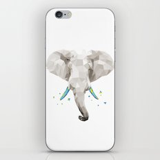 Geosafari | Elephant (White) iPhone & iPod Skin