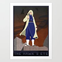 fullmetal alchemist Art Prints featuring Fullmetal Alchemist - The Hawk's Eye by Monica McClain