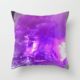 Crystalline Structure Throw Pillow