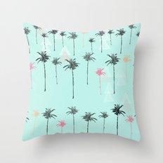 Tropical Palm Dreams  Throw Pillow