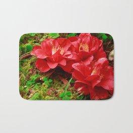Fallen camellias Bath Mat