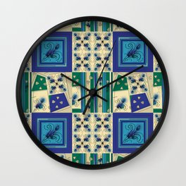 Thistle Print Quilt Coordinate Wall Clock
