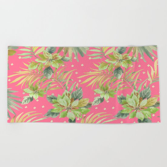 tropical summer warm Beach Towel