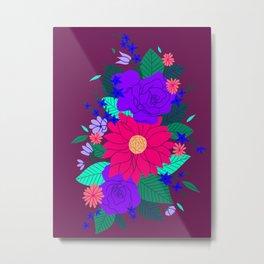Floral Garden - Plum Metal Print