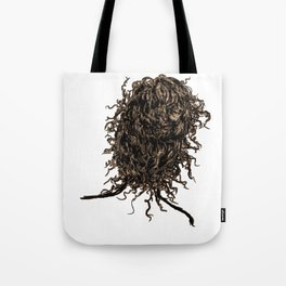 Messy dry curly hair 2 Tote Bag