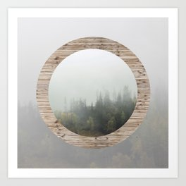 At the still point of the turning world. Art Print