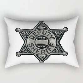 Deputy Sheriff Badge Rectangular Pillow