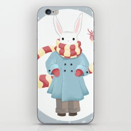 Bunny Brother Out On A Winter Day iPhone Skin