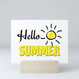 Hello summer Mini Art Print