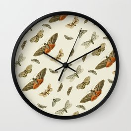 Moths Wall Clock