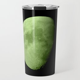 4K Dark Side of the Moon Lime Green Travel Mug