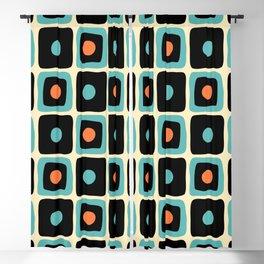 Mid Century Square Dot Pattern 4 Blackout Curtain