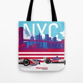 Mahindra Racing FIA Formula E Season 4 New York City E-Prix Poster Tote Bag