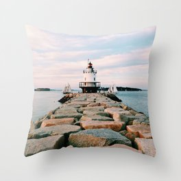 Spring Point Lighthouse Throw Pillow
