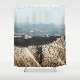 Mount Evans Summit Shower Curtain