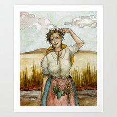 Pioneer Woman Art Print