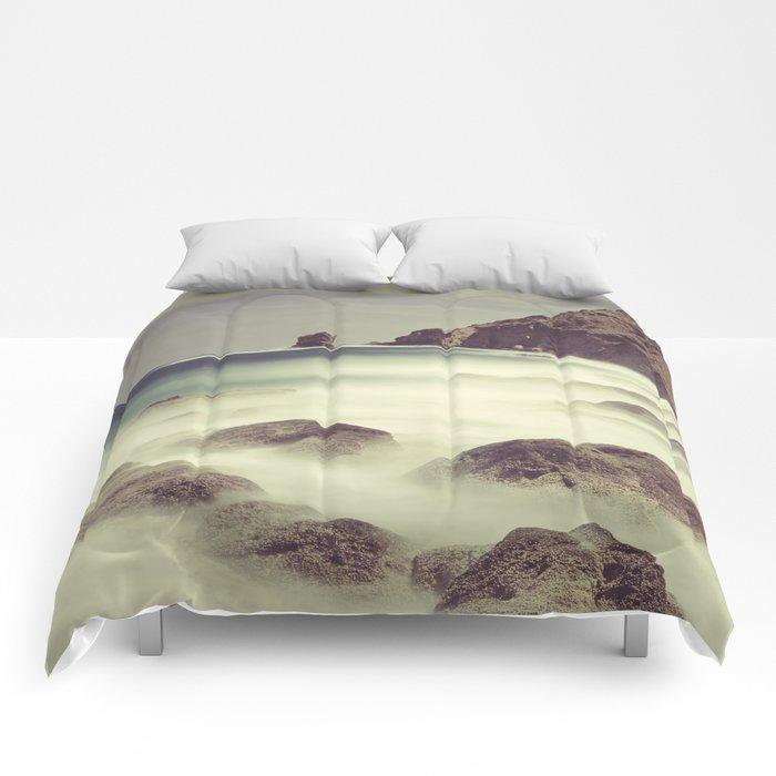 Water. Volcanic rocks. Comforters