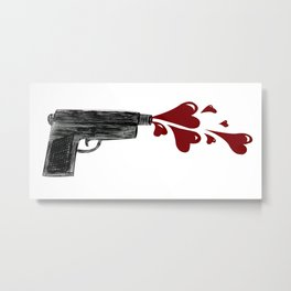 Love Gun by Hooman Metal Print