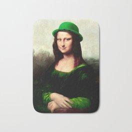 Lucky Mona Lisa - St Patrick's Day Bath Mat