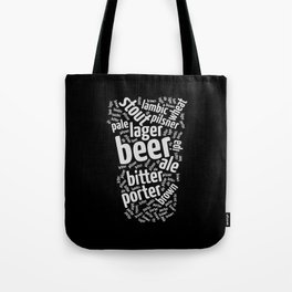 Beer Glass Word Tote Bag