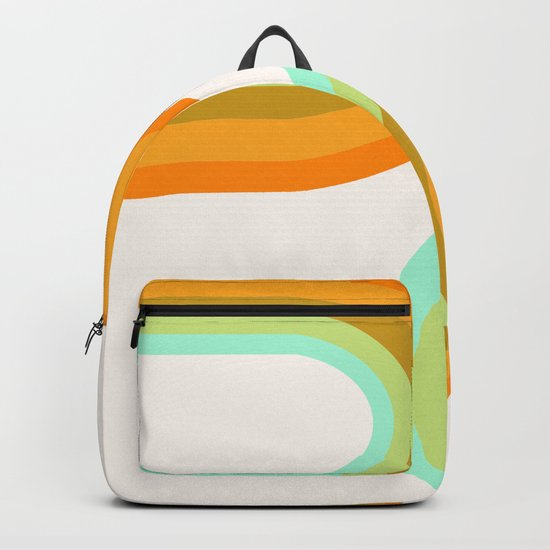 Dy-no-mite - retro throwback 70s style vibes 1970s art decor minimalist surfer Backpack