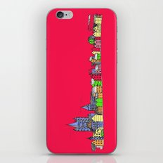 Sketchy Town in pink iPhone & iPod Skin