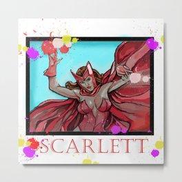 Scarlett Metal Print