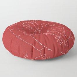 gay one line art Floor Pillow