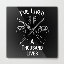 Gamer Lives Metal Print