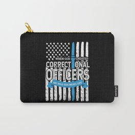 God Created Correctional Officers Patriotic Carry-All Pouch