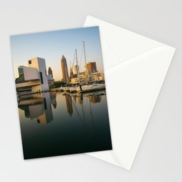 Cleveland Ohio City Skyline Harbor Gift Ideas Stationery Cards