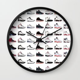 Air Jordan Series Collection 1-14 Wall Clock