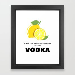When Life Hands You Lemons Framed Art Print