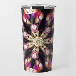 Purple & Green Fire Snowflake Travel Mug