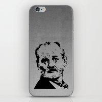 bill murray iPhone & iPod Skins featuring Bill Murray by Spyck