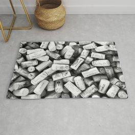 Something Nostalgic II Twist-off Wine Corks in Black And White #decor #society6 #buyart Rug