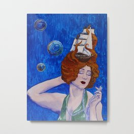 Siren's Song by Mary Bottom Metal Print