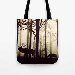 Animal Forest Parade (Reindeer, Wild Boar) Tote Bag