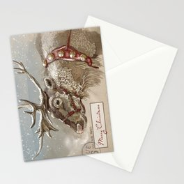 Via Air Mail - Christmas Reindeer Stationery Cards