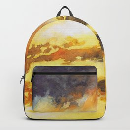 Watercolor Sky No 5 - colorful rain clouds Backpack