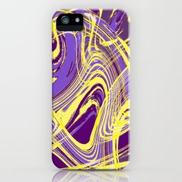 Yellow and Purple Dancing the Tango iPhone Case