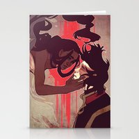 zuko Stationery Cards featuring Zuko and Katara by Matereya