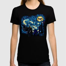 Starry Knight iPhone 4 4s 5 5c 6, pillow case, mugs and tshirt LARGE Black Womens Fitted Tee