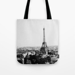 Paris City Sky // Eiffel Tower City Landscape Photography Shot from the top of Champs Elysees France Tote Bag