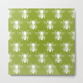 The Bee's Knees Green Metal Print