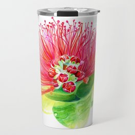 Red Flower / Ohia Lehua Travel Mug