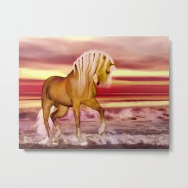 HORSE - Palomino Metal Print