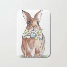 Easter Bunny wearing Bow Tie Bath Mat