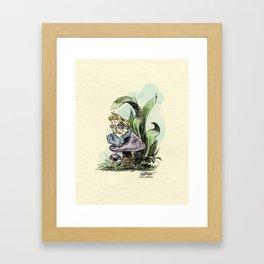 Pouty Alice - Watercolor Framed Art Print