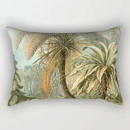 Vintage Tropical Palm Rectangular Pillow